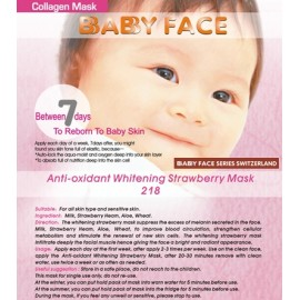 BABY FACE Anti-oxidant Whitening Strawberry Mask 士多啤梨活氧美白面膜
