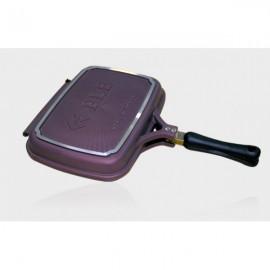 PLE 雙面鍋(6重鈦鑽石塗層):PLE 雙面鍋由高純度鋁合金壓鑄製作