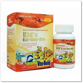維他康-美國-兒童 鈣 + 鎂 + 鋅 咀嚼片,Vita Hong Kid's Cal+ Mag+ Zinc